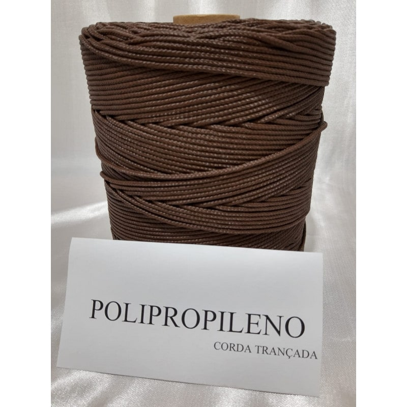 Corda Trançada de Polipropileno Marron 02.0 mm