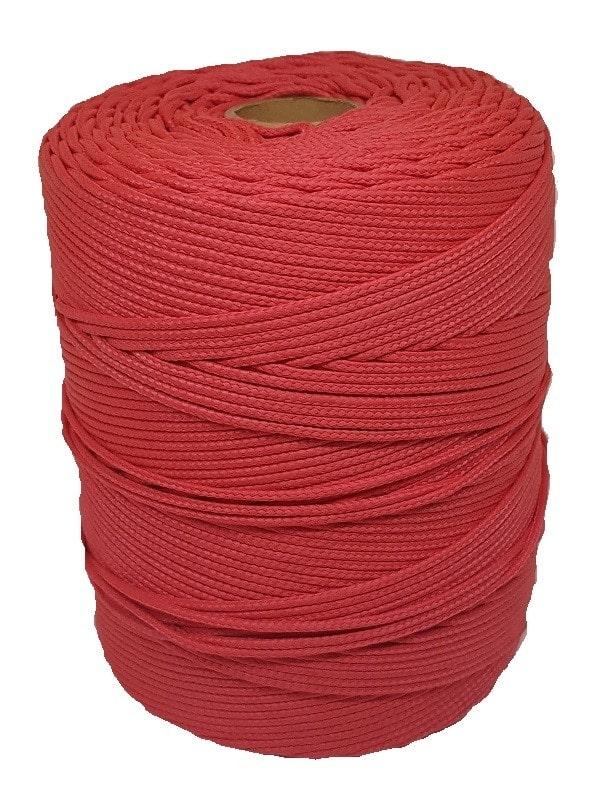 Corda Trançada de Polipropileno Vermelha 3.5mm