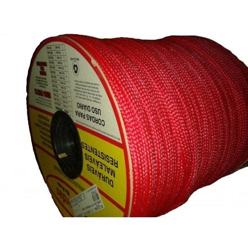 Corda Chata PP 22,0mm Vermelha Lisa (para cabresto)
