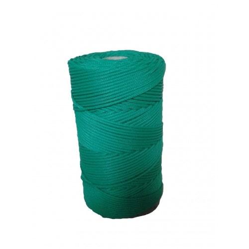 Corda Trançada de Polipropileno Verde Bandeira  2.0 mm