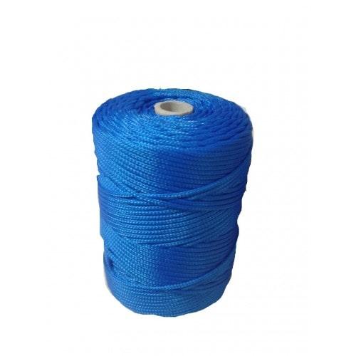 Corda Trançada de Polipropileno Azul 2.5 mm