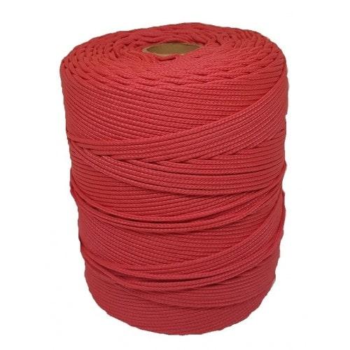 Corda Trançada de Polipropileno Vermelha 6.0 mm