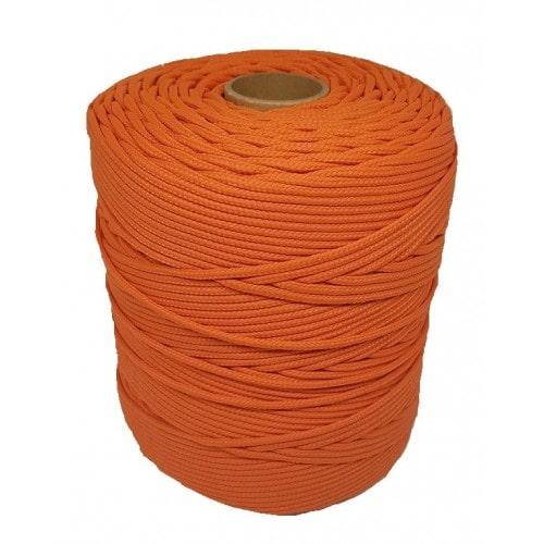 Corda Trançada de Polipropileno Laranja 3.0 mm