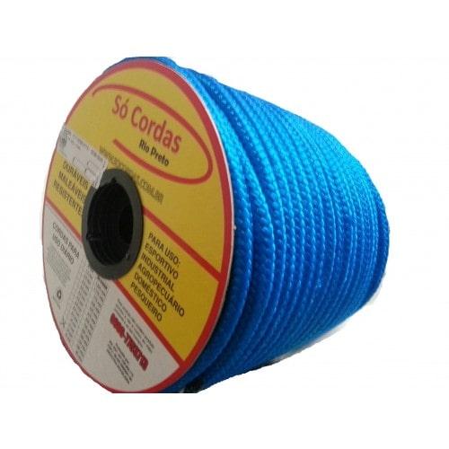 Corda Trançada de Polipropileno Azul 08.0 mm