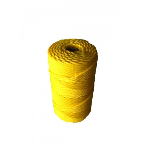 Corda Trançada de Polipropileno Amarela 16.0 mm