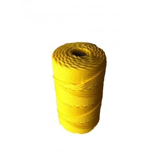 Corda Trançada de Polipropileno Amarela 4.0 mm