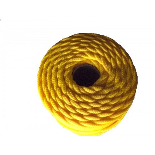 Corda Trançada de Polipropileno Amarela 3.5 mm