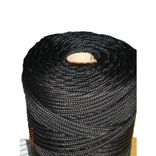 Corda Trançada de Polipropileno Preta 1.5 mm