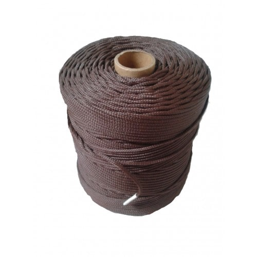 Corda Trançada de Polipropileno Marron 2.5 mm