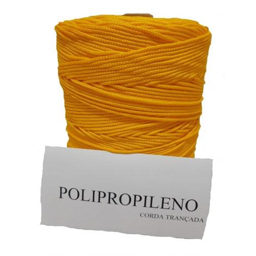 Corda Trançada de Polipropileno Amarela 2.0 mm