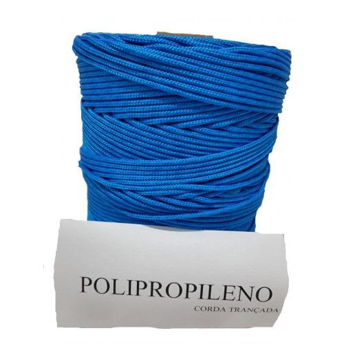Corda Trançada de Polipropileno Azul  02.0 mm
