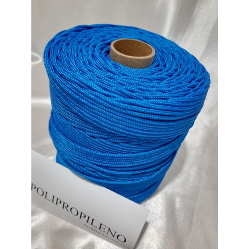 Corda Trançada de Polipropileno Azul 3.0 mm