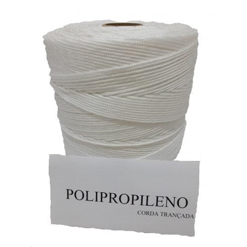 Corda Trançada de Polipropileno Branca 02.0 mm
