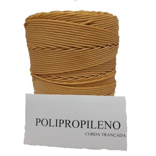 Corda Trançada de Polipropileno champanhe 02.0 mm