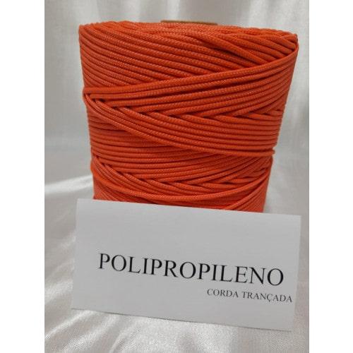 Corda Trançada de Polipropileno Laranja 2,0 mm