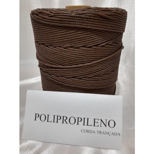 Corda Trançada de Polipropileno Marrom 02.0 mm
