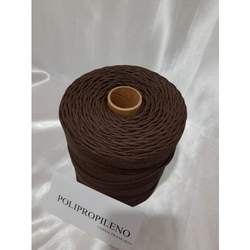 Corda Trançada de Polipropileno Marron 3.0 mm