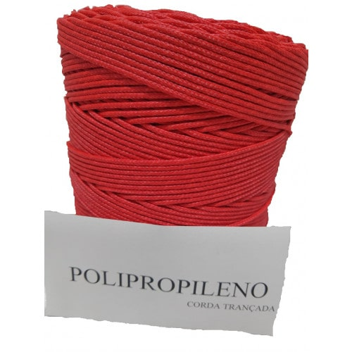 Corda Trançada de Polipropileno Vermelha  02.0 mm