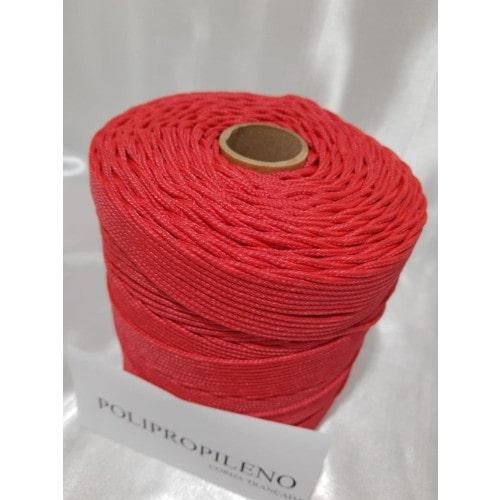 Corda Trançada de Polipropileno Vermelha 3.0 mm